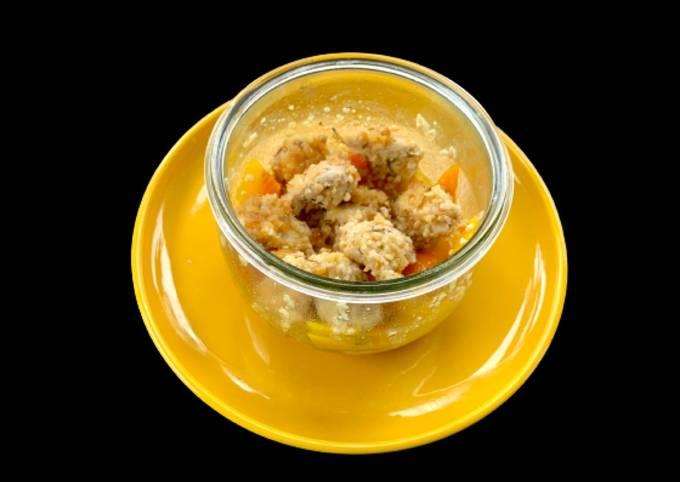 Pollo con Arachidi e Peperoni in Vasocottura al Microonde