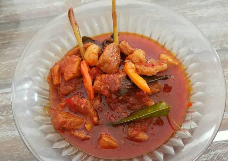 Oseng babi mercon (non halal)