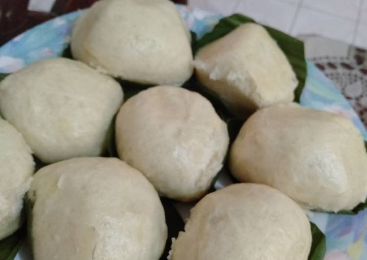 resep cara membuat Bakpao kampung enak lembut legit inti kacang hijau