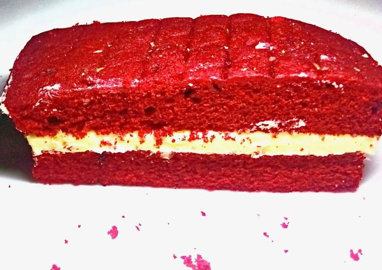 Red Velvet cake bar and lemony butter cream