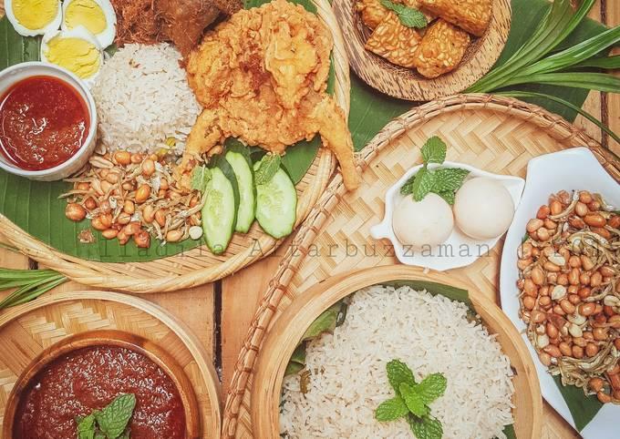 Nasi Lemak Kukus. hidangan nasi (maraton ramadan)
