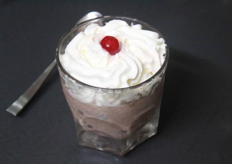 Arroz con leche y chocolate al microondas