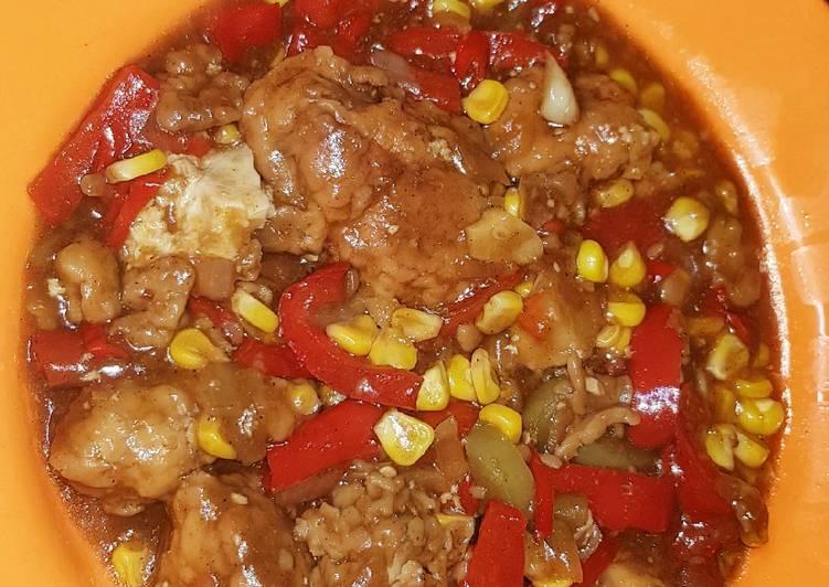 Ayam Lada Hitam saus merah