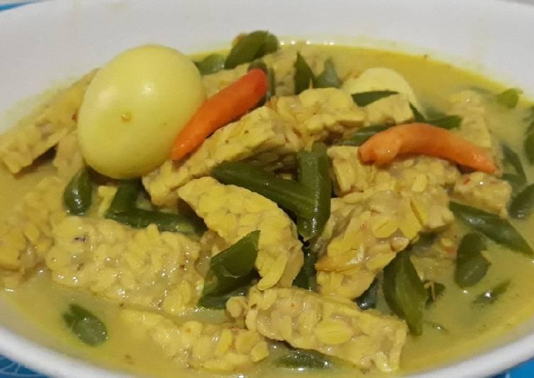 Resep Sayur Tempe, telor dan buncis kuah kuning yang Bisa Manjain Lidah