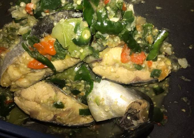 Resep Patin cabe ijo (no oil, no sugar), Enak