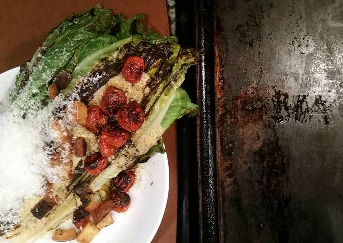 Easiest Way to Cook Delicious Seared Caesar Salad