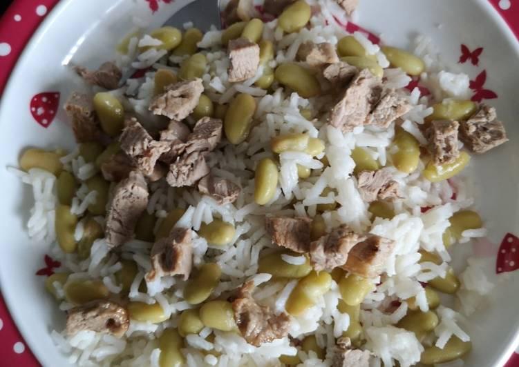 Agneau riz et flageolets