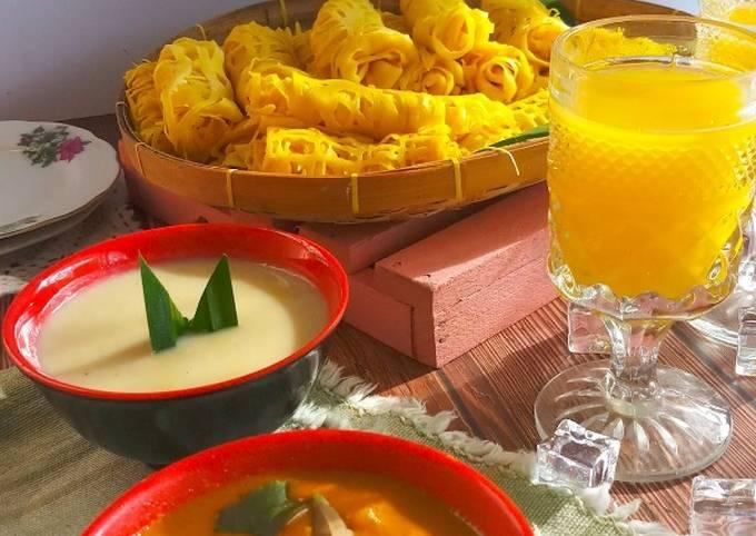 Langkah Mudah untuk Menyiapkan Roti Jala #Durian Anti Gagal