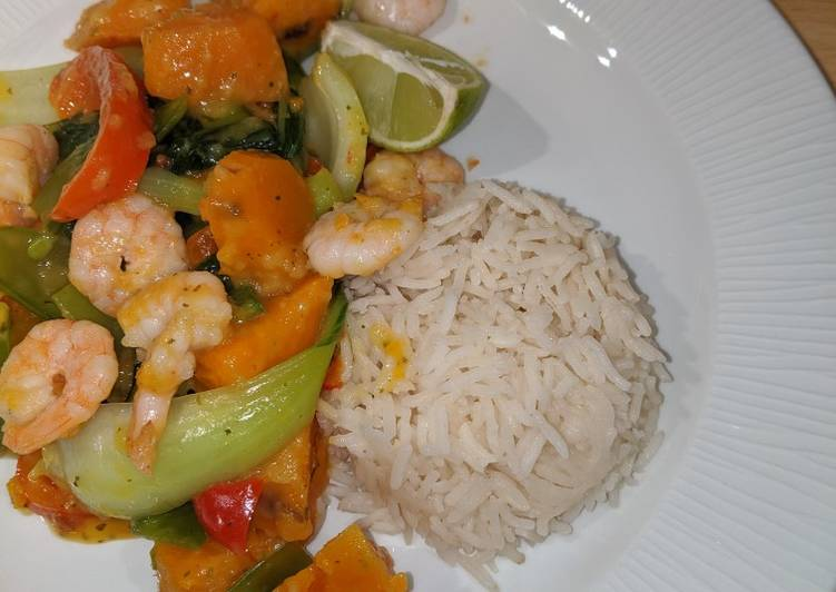Thai prawn curry Finding Healthful Fast Food