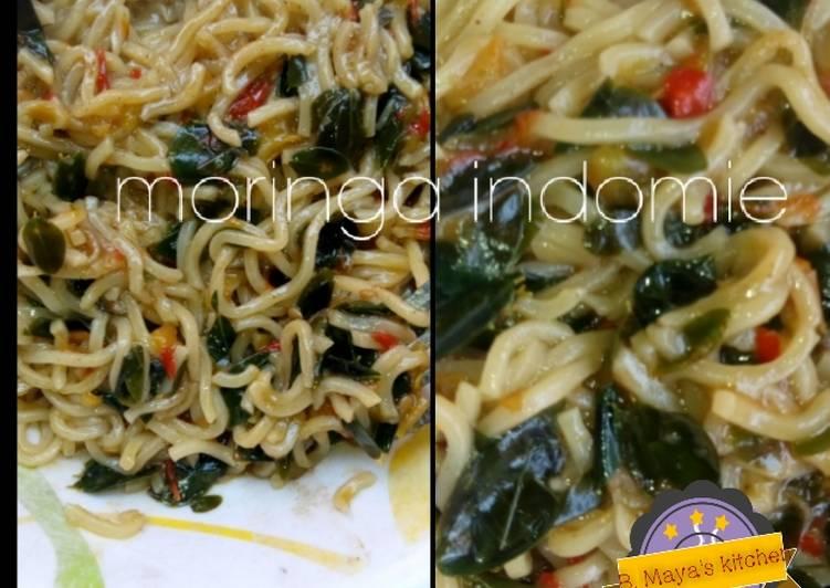 Steps to Make Perfect Moringa indomie