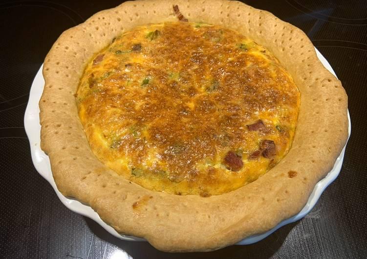 Comment faire Faire Délicieux Quiche jambon/brocoli/poireaux/fromage