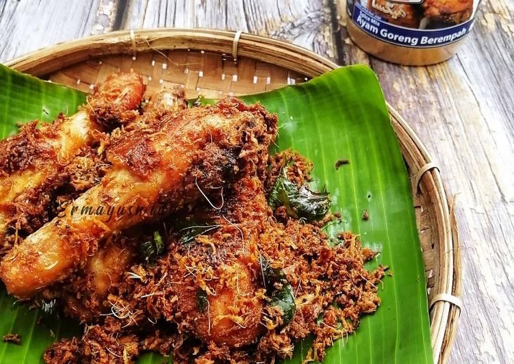 Cara Mudah Masak: Ayam Goreng Berempah Kelapa Parut  Lazat