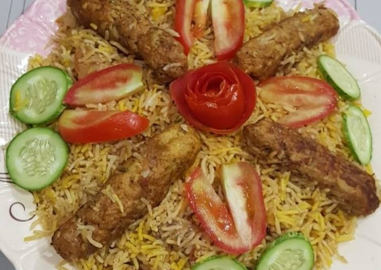 Grandmother's Dinner Ideas Blends Seekh kabab biryani