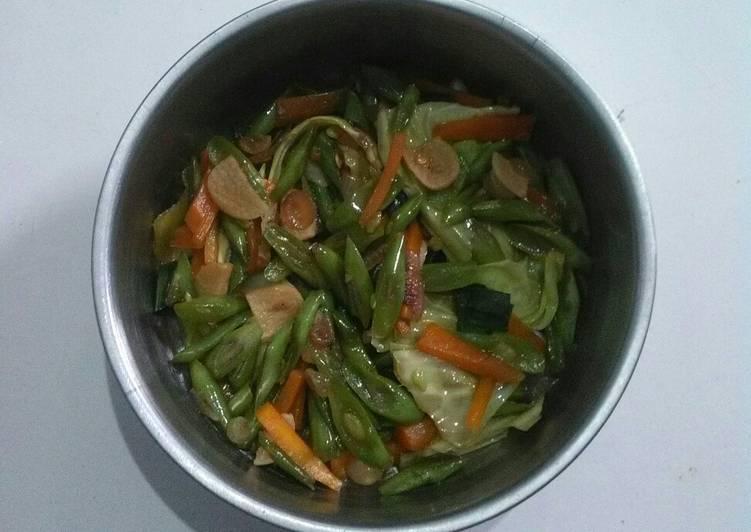 Tumis buncis wortel kol