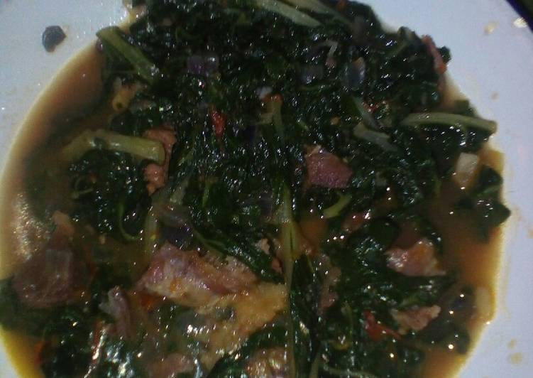Step-by-Step Guide to Prepare Any-night-of-the-week Spinach and meat