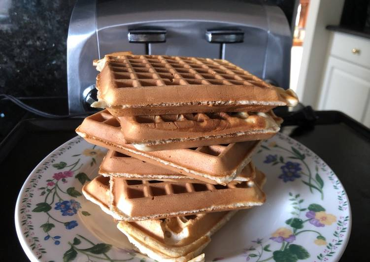 Waffle for toast using