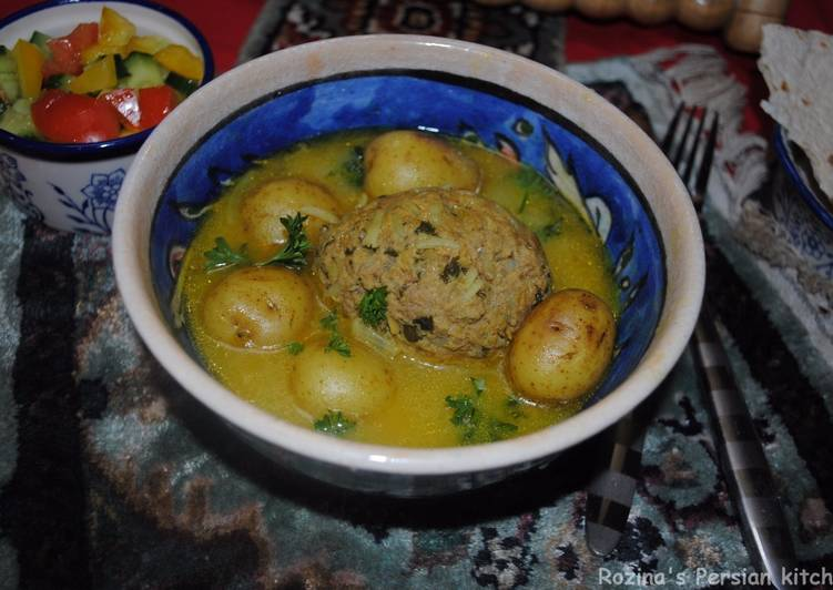 Step-by-Step Guide to Prepare Homemade Kufteh bozbash (stuffed meatball)