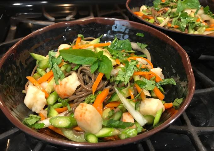 Super Quick & Easy Asian Inspired Cold Noodle Salad
