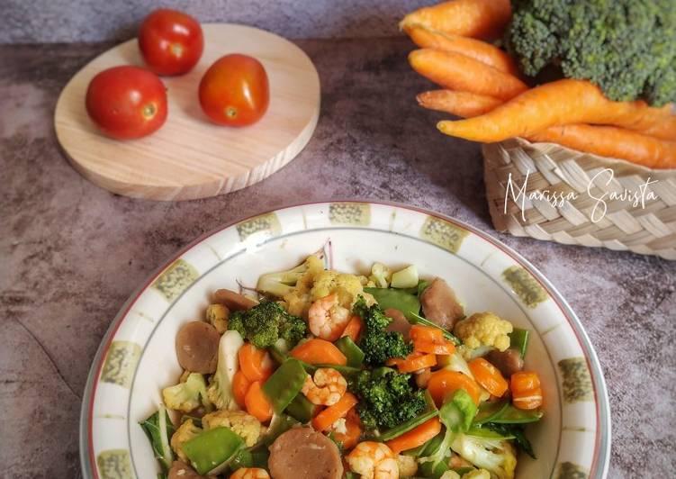 139. Capcay Udang Sayur