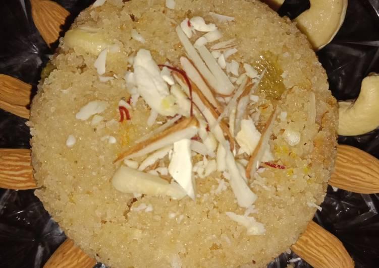 Simple Way to Make Speedy Suji Halwa (Prashad special)