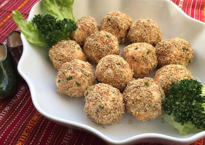 Uzbekistan Potato Salad Ball