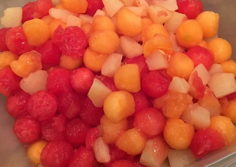 Melon ball and Pear Medley