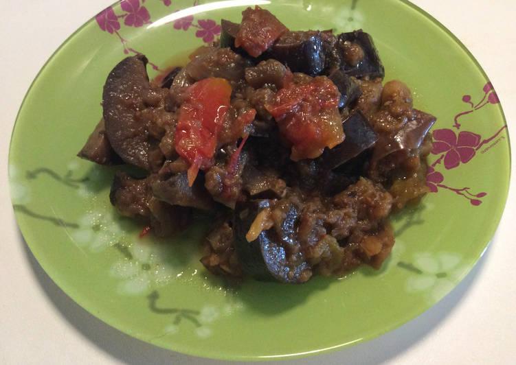 Recette: Appétissant Aubergines à la tomate