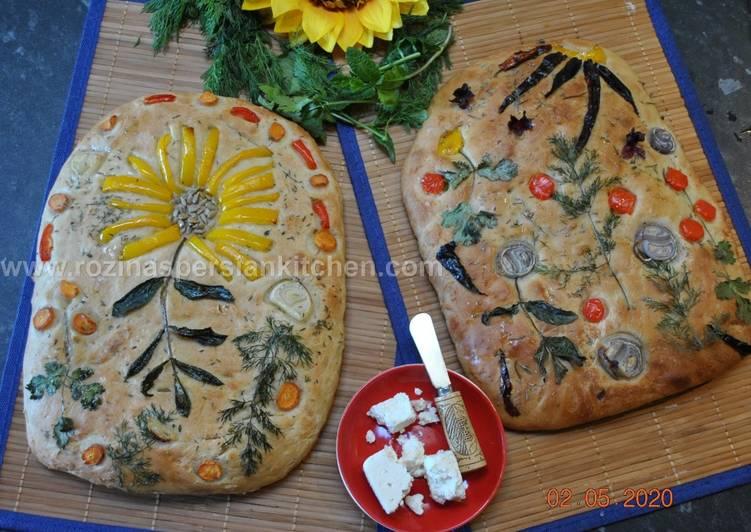 No Knead Gardenscape Bread