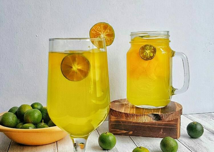 Jus Limau Asam Bernata #Maratonraya #Minuman #Minggukedua - resepipouler.com