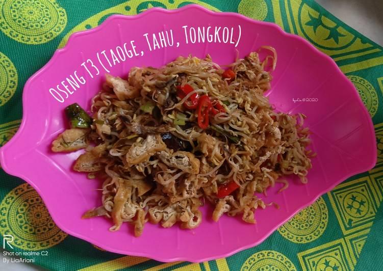 Resep Oseng T3 (Taoge, Tahu, Tongkol), Lezat Sekali