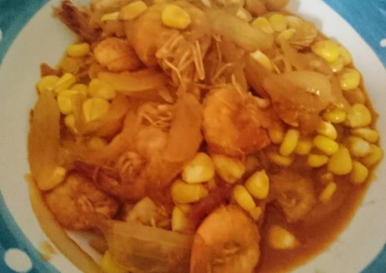 Udang saus padang simple - cookandrecipe.com