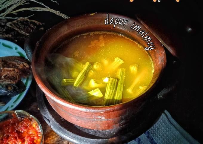 Klentang (buah kelor) Sayur asem