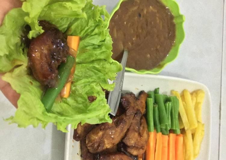 Steak ayam teflon saus blackpaper