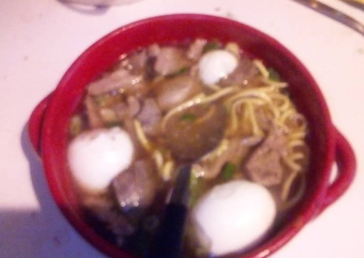 How To Use Home made batchoy (Filipino noodle soup)