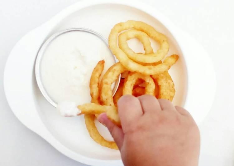 Potato Swirl with Cheese Sauce - MPASI
