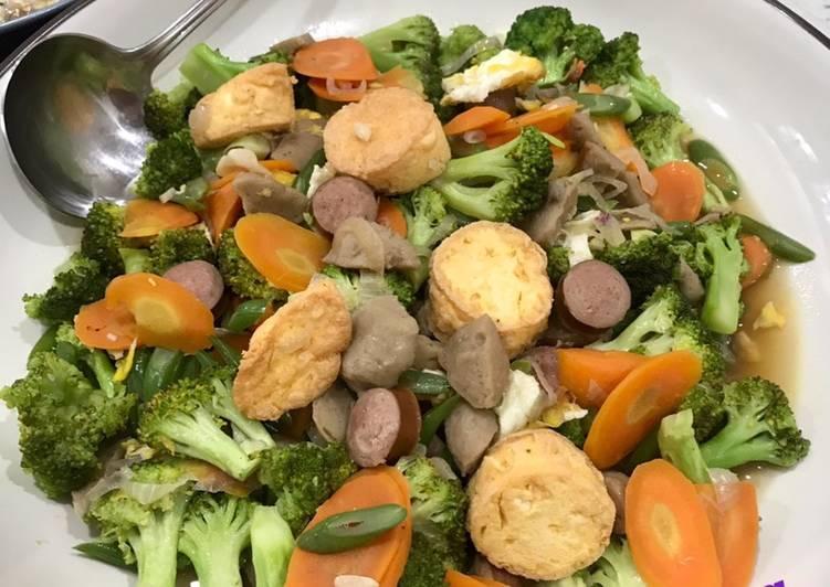 Capcay Sayur Bakso Sosis