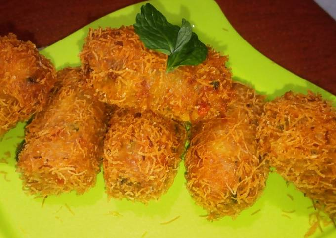 Indian Cheddar Cheese Croquettes