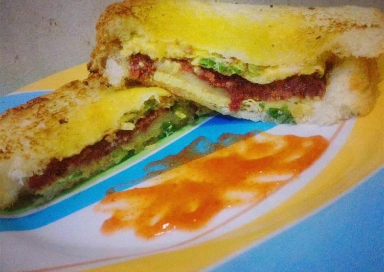 Resep Sandwich Panggang Teflon (masakan suami) Paling Gampang