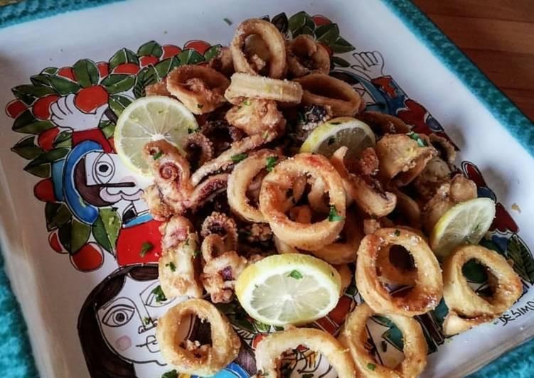 Ricetta Frittura di calamari 🌷