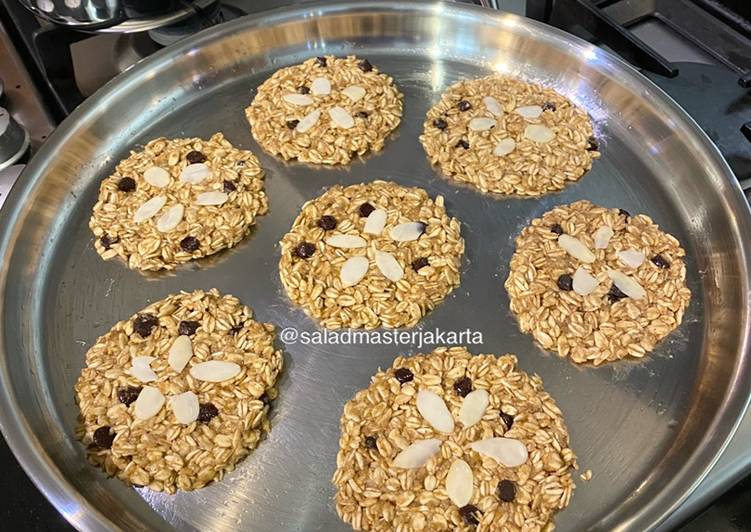 Recipe: Delicious Rolled Oat Cookies tanpa Oven