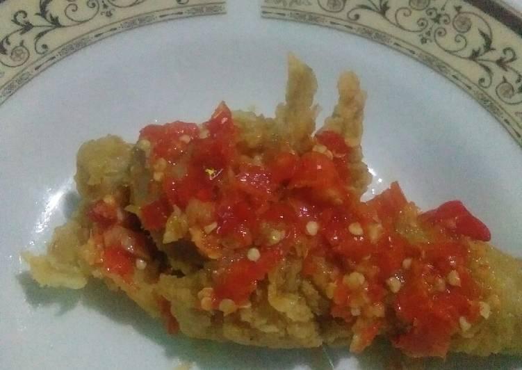 Ayam geprek sederhana tapi enak 😁