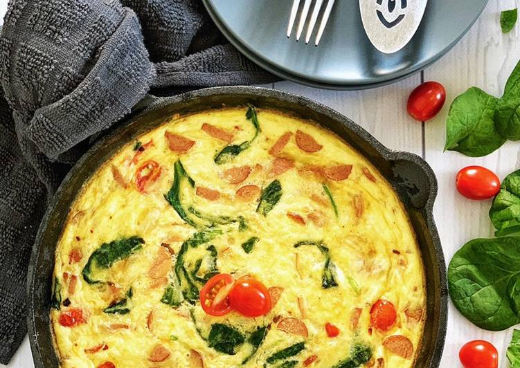 Easiest Way to Prepare Appetizing Sausage Spinach Frittata