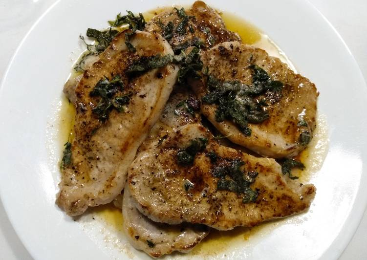 Pork Chops with Crispy Herbs