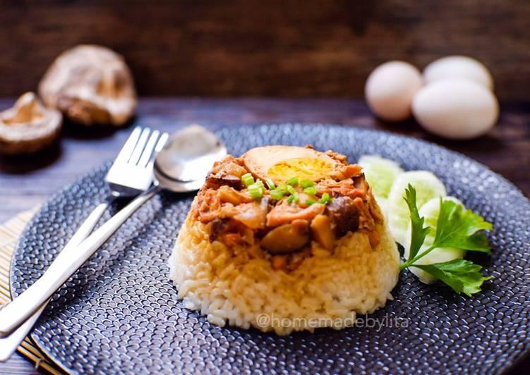 Nasi Tim Ayam Kampung #homemadebylita