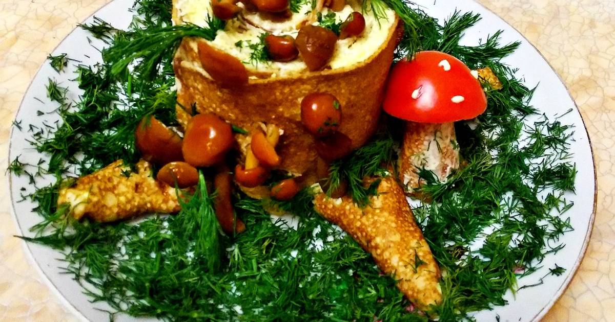 салат пенек рецепт с фото пошаговый праздники