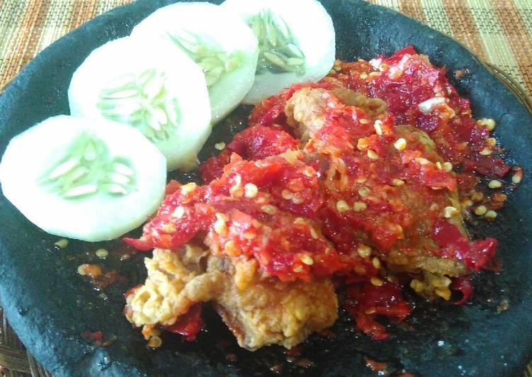 Resep Ayam geprek yang Lezat