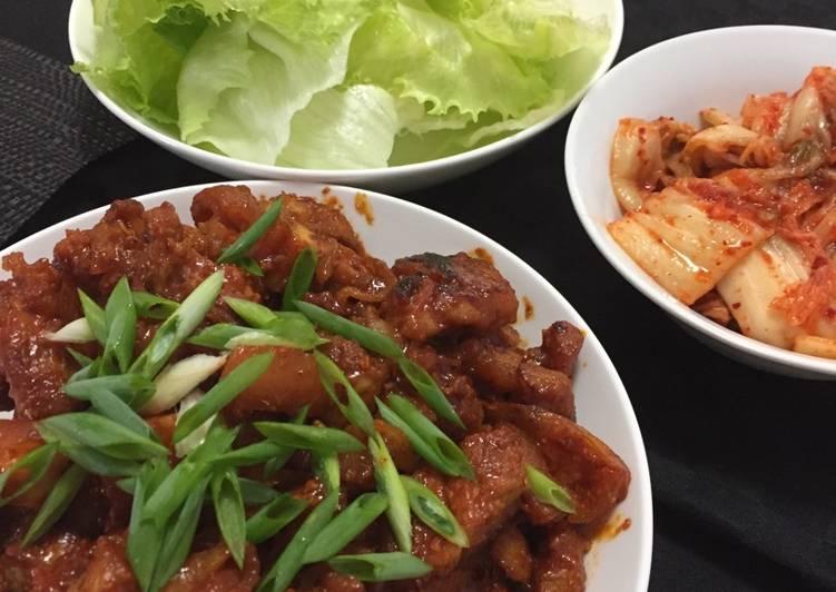 Pork belly in spicy korean sauce – Serious Eat Cookbooks