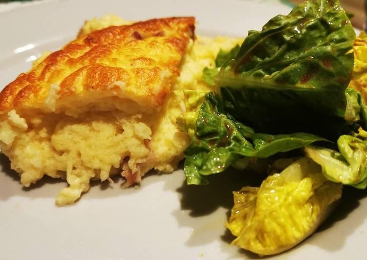 Soufflé jambon gruyère