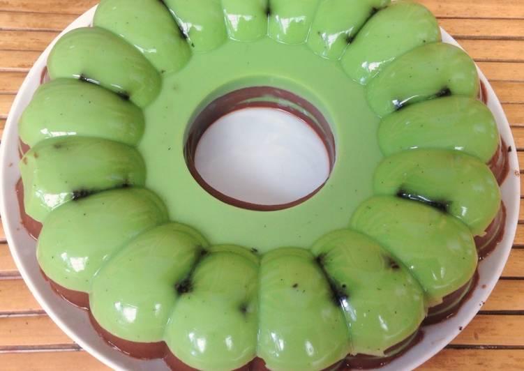 Puding Chocolatos Greentea Coklat