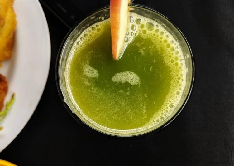 Recipe of Homemade Wheat Grass Apple Juice